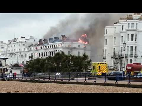 Claremont Hotel Eastbourne On Fire