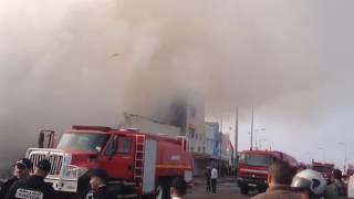 خطير حريق بحي سيدي موسى سلا سقوط عمارة وموت أحد رجال الوقاية المدنية