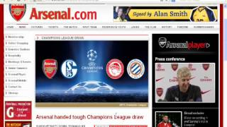 Champions League Table - Arsenal gets easy/hard group