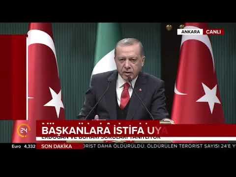 Recep Tayyip Erdoğan;İstifa etmezlerse gereği yapılacak