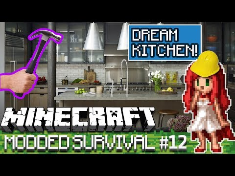 Building MORE Kitchen!!  [Over The Rainbow Modded Minecraft Ep 12]