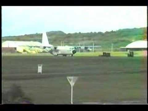 Marine C-130 Landing at MCAS Futenma, Okinawa (July 1986)