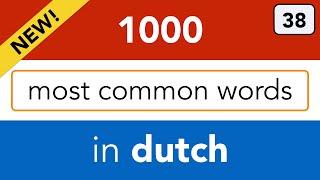 Lesson 38 - Dutch as a foreign language / Nederlands voor anderstaligen: Dutch adjectives.