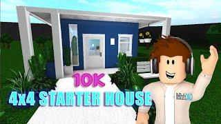 10K 4x4 Mini Starter Home Bloxburg House Building | Roblox DaPandaDad