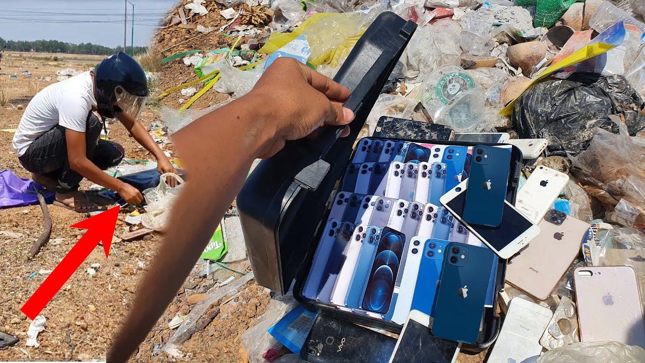 Found a lot of broken phones and more! | Restoring Abandoned Destroyed Phone | Rebuild Broken phone