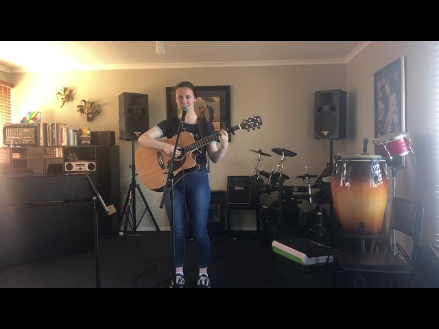 Caity Body singing Take a Breath on guitar -SingOut Singing and Performance School
