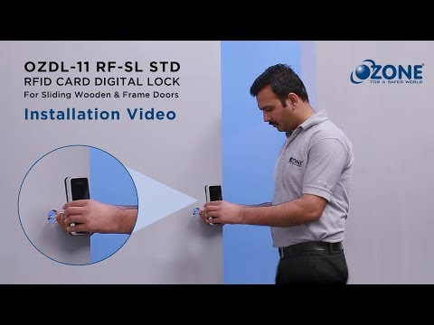 RFID Sliding Door Digital Lock - Installation Video