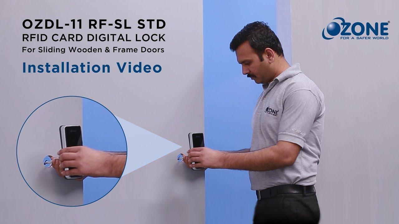 Rfid Sliding Door Digital Lock Installation Video Youtube
