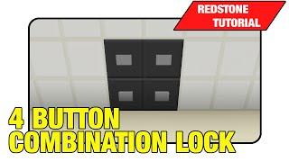 "Combination Lock [4 Button] ""Redstone Tutorial"" (Minecraft Xbox 360/One/Ps3/Ps4 TU17)"