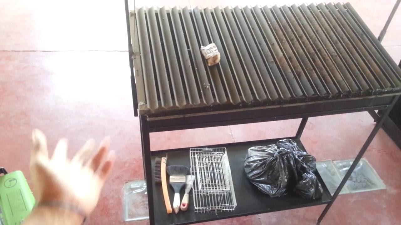 Como hacer parrilla con ngulos de fierro horno modificado youtube - Como se construye una barbacoa ...