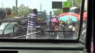 Riding through L'Estere, Haiti
