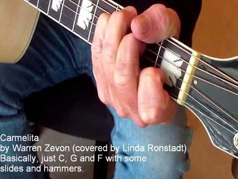 Carmelita Warren Zevon Linda Ronstadt How To Play Lesson Guitar