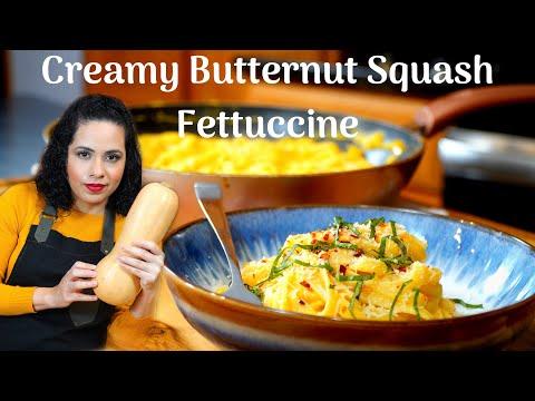BUTTERNUT SQUASH FETTUCCINE   THE BEST butternut squash recipe   VEGETABLE pasta SAUCE recipe