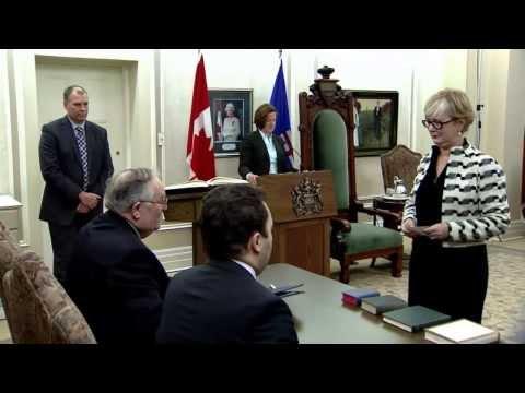 Alberta Cabinet swearing-in ceremony