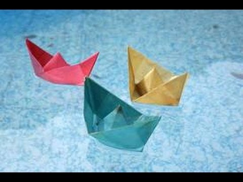 how to make origami paper boat floats on water youtube