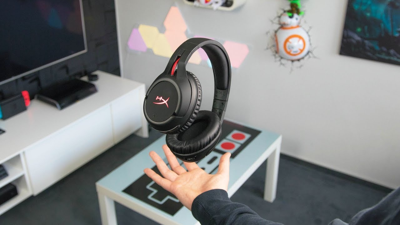 hyperx cloud flight kabelloses gaming headset pc ps4. Black Bedroom Furniture Sets. Home Design Ideas