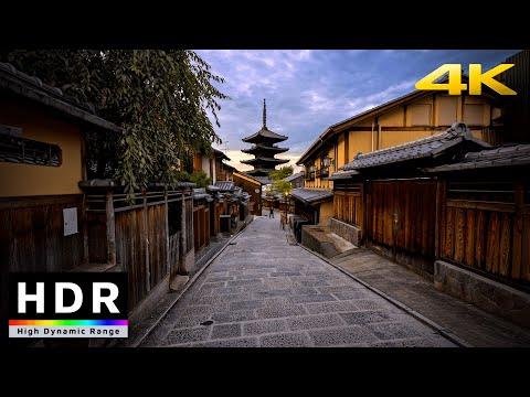 【4K HDR】Walk in Kyoto around Kiyomizu-dera at Sunset (清水寺散歩) - Summer 2020