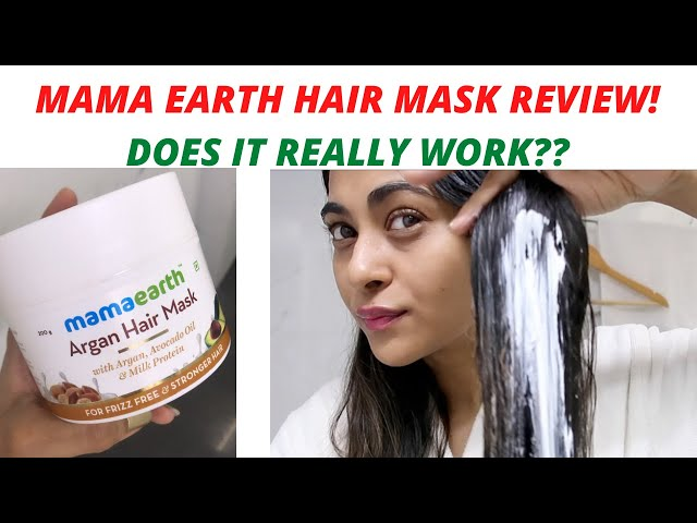 Mama Earth Argan Hair Mask Review| Does it work??Dry Damaged Hair. At Home Hair Mask for Strong Hair