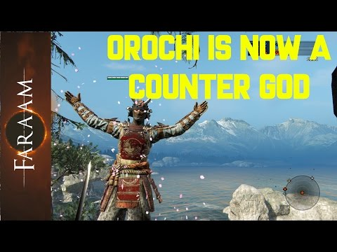 Hyperarmor!! Orochi is now a counter god! - For Honor