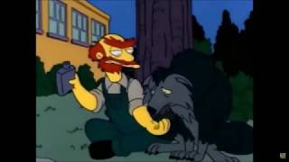 Groundskeeper Willie vs Wolf