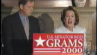 Elizabeth Dole Endorses U.S. Senator Rod Grams