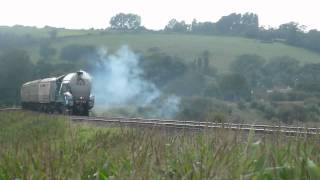 A4 class 4464 `Bittern` (60019) on the cathedrals express @ Newton st Loe 13th Aug 2012
