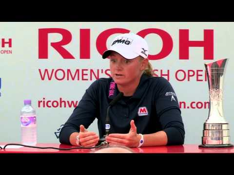 Stacy Lewis' Winner Interview at the RICOH Women's British Open