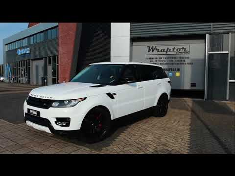 Range Rover Sport 2017 wrapped from dark blue to gloss white