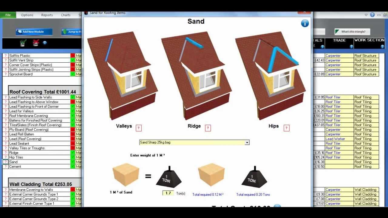 Dormer Hip Roof Estimating Module