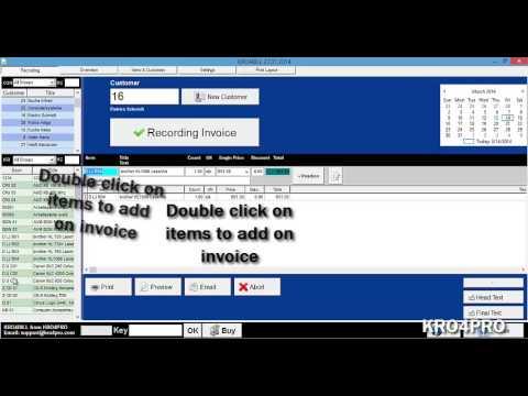 kro4bill invoice receipt software from kro4pro youtube