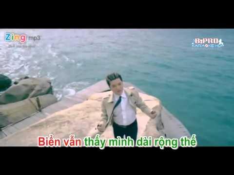Karaoke HD Bien Noi Nho Va Em   Beat   Dam Vinh Hung