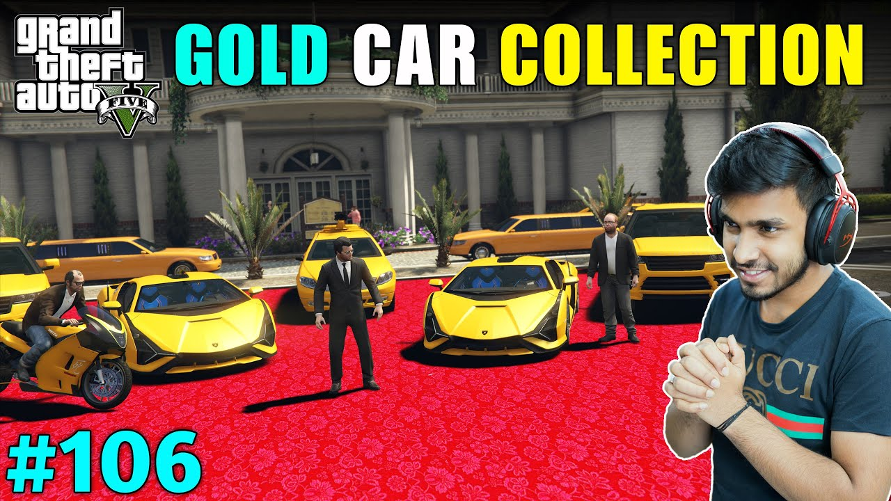 LESTER IMPORTED EXPENSIVE GOLD CARS | GTA V GAMEPLAY #106