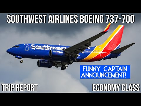 [TRIP REPORT] (FUNNY CAPTAIN) Southwest Airlines Boeing 737-700 Newark (EWR) -  Chicago (MDW)