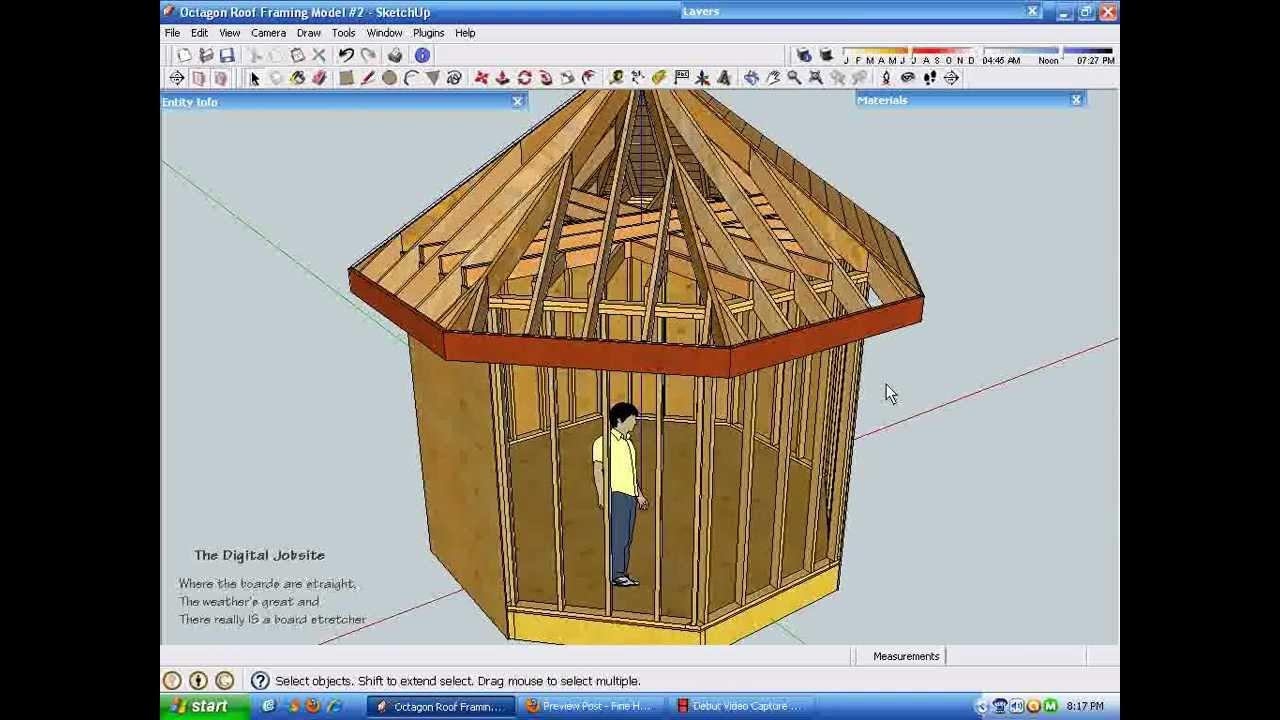 Exploring octagonal roof framing part one youtube for Hexagonal roof framing