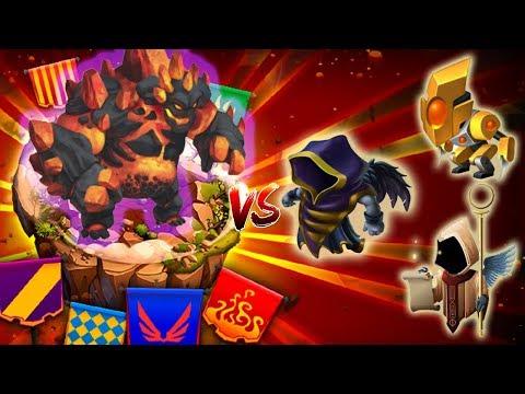 🌑Monster Legends - IGNEUS level 130 Titan invasion vs Samael Uriel Talos combat