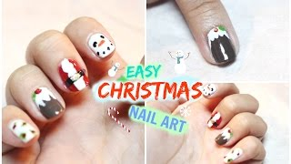 Cute And Easy Christmas Nail Art Using Toothpick • heartcindy Thumbnail