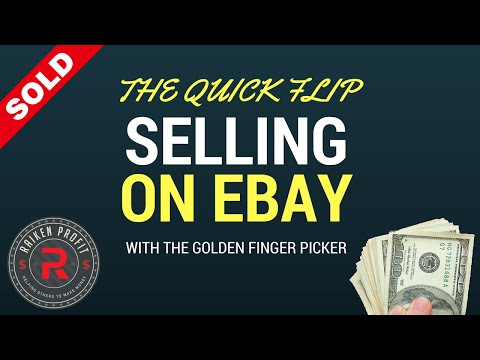 How To Price Items For Quick Flips While Selling On Ebay With The Golden Finger Picker