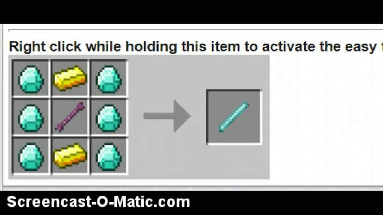 Minecraft Shaped Crafting Mod