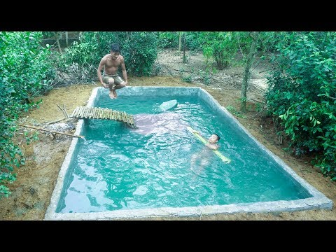 Build Swimming Pool Around Underground House-Part5