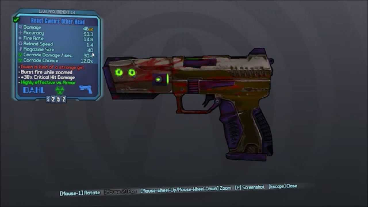 borderlands 2 how to carry 4 weapons