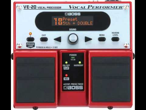 Boss VE-20 Vocal Performer Demo - Autotune Radio Voice, 3rd Vocal, & 3rd Harmonies