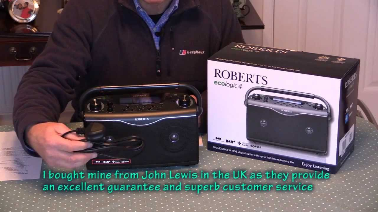 roberts radio ecologic 4 dab radio review youtube. Black Bedroom Furniture Sets. Home Design Ideas