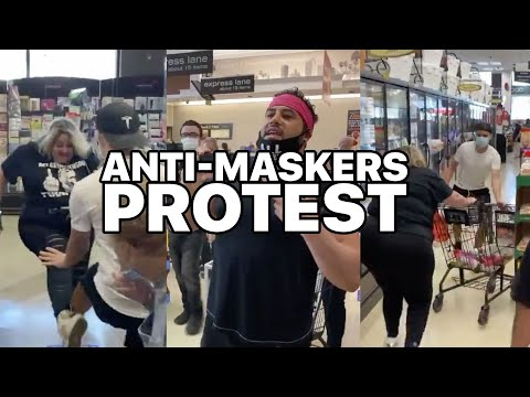 Anti-Masker LA Protest: Karen Freakout Compilation At Los Angeles Grocery Store And Mall