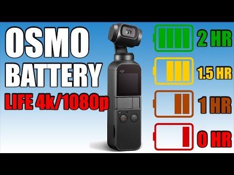 Osmo Pocket Battery Life Test | 4k & 1080p 24/30/60 Fps