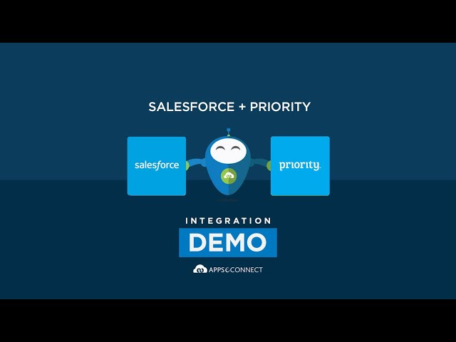 Integrate Salesforce CRM and Priority ERP | APPSeCONNECT