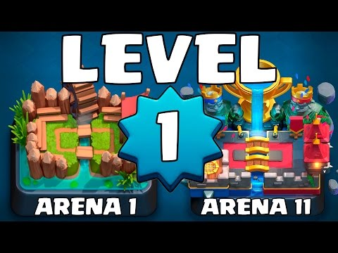 LEVEL 1 ACCOUNT TO LEGENDARY ARENA #1 :: Clash Royale :: HOW HARD IS THE GOBLIN STADIUM AS LEVEL 1?