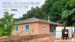 [삼진벽난로] 경북 청도, 단층 전원주택 거실 인테리어…