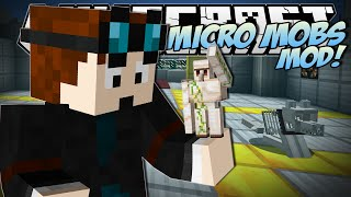 Minecraft | MICRO MOBS MOD (Tiny Creepers, Steves, Golems & More!) | Mod Showcase