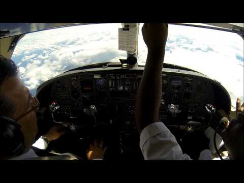 IFR flight in a Citation V - departure in heavy rain!