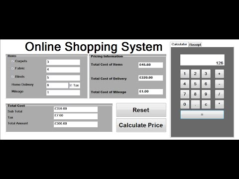 How to Create Billing System Project in Visual Basic Net - YouTube